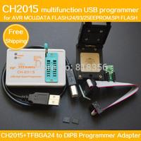 SPI FLASH USB Programmer CH2015+BGA24 to DIP8 Adapter 6X8MM for FLASH 25Q64/25Q128
