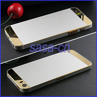 For iPhone 5S Plating Chassis Housing Replacement Metal Back Battery Housing Frame Cover Case for iPhone 5S Free Shipping