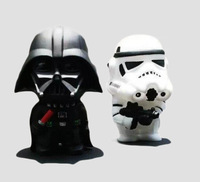 New 2015 Cartoon dolls wholesale Star Wars Q version White&black night cavalry two hands furnishing articles model toys