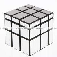 Free Shipping 3x3x3 Magic Cube Puzzle Mirror Intelligence Game KidsToy Silver Mirror Blocks 4018-905