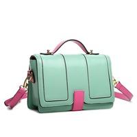 2014 new arrival time-limited freeshipping cover bolsas bolsa women handbag 2014new korean women contrast color satchel bag