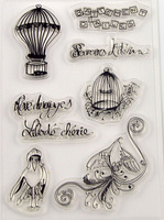 Vintage Bird Clear Stamp Design Transparent Silica gel Stamp/Seal DIY Scrapbooking