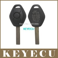 Replacement Shell Remote Key Case Fob 3 Button for BM Z3 Z4 X3 X5 E36 325i 3 5 7 525i 330i BackSide with the Words 433.92MHz