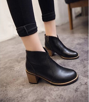 2015 fashion autumn and winter women's boots with significant lanky boots thick with Martin pointed boots women boots Shoes