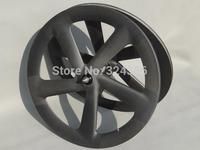 Full Carbon Matt Track Bike Five Spokes Clincher Wheelset  Rim Depth : 65mm Front + Rear