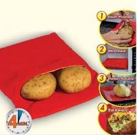 5pcs/lot Potato  Microwave Baked Potato Cooking Bag Cooking Tools cooks 4 potatos at once just 4 Minutes Easy Cooking Potato Bag