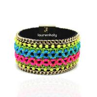 BR5311A High Quality Women multi-layer pulseiras femininas,handmade cuff bracelet,magnetic tube bar clasp bangles wholesale 2015
