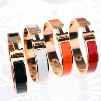Rose gold bracelet 18k color gold bangles for women fashion titanium jewelry