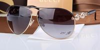 Metal sunglasses 4230 gg sunglasses diamond gradient elegant vintage sun glasses female