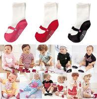 3 Pairs X New Baby BB Infant Toddler Girls Anti-slip Shoes Cotton Socks 3-6M