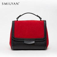 Smilyan genuine leather patchwork tote bag vintage shoulder bags bolsas women  famous brands designer handbags high quality