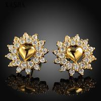Free shopping 18K gold plating earrings Fashion High Quality zircon earrings KASHAE026