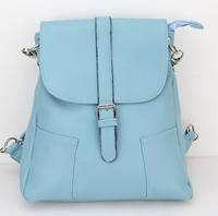 New Hotsale Women Shoulder Bag Backpack Schoolbag pu Backpacks Travel Hiking Bags H096 skyblue