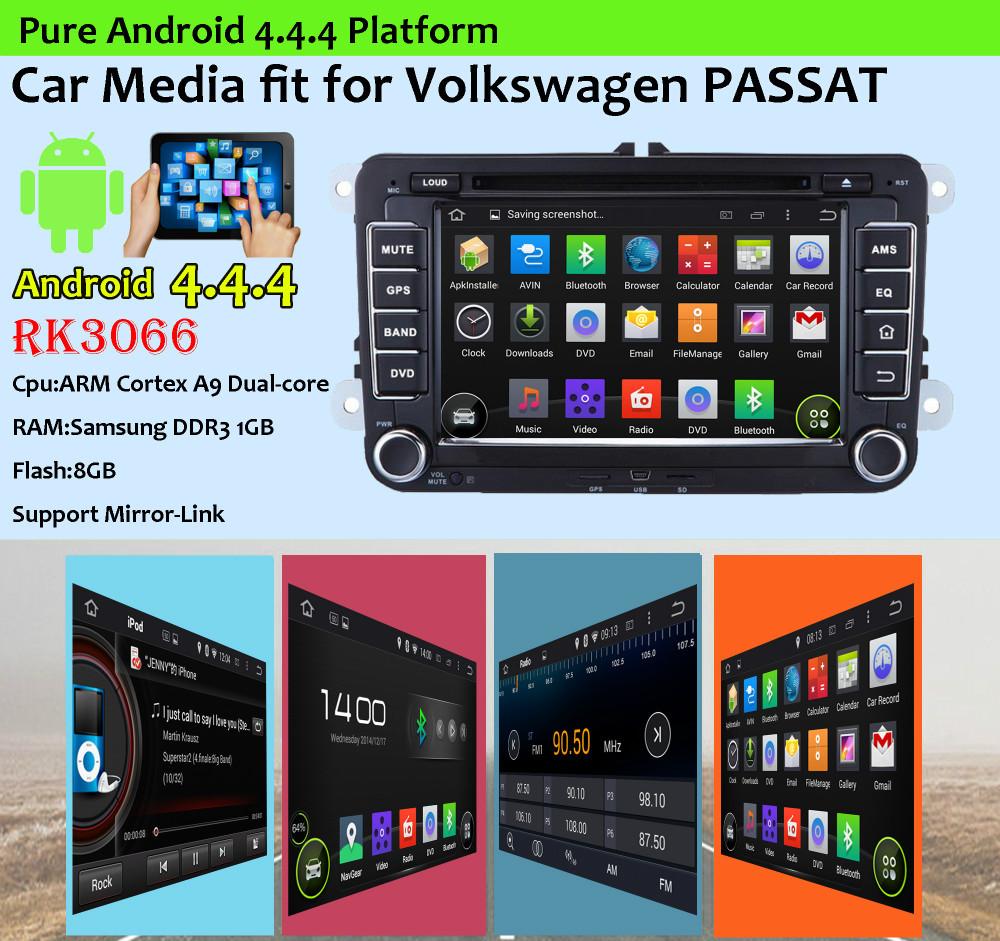 Androd 4.4.4 car dvd gps player FIT for Volkswagen VW CADDY/PASSAT/SAGITAR/SKODA/TIGUAN/TOURAN/JETTA/SEAT/CC/POLO/Golf 5/Golf 6(China (Mainland))