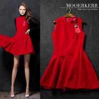 2015 Hot Sale Tropical Vestido De Renda Maxi Dress Mooerkerr New Winter High-end Women's Dress Draping Beaded Mini Wholesale