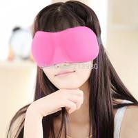 Free shipping 1000pcs 3D eye Sleeping Mask cotton Blindfold Soft Eye Shade Nap Cover Blindfold Sleeping Travel Rest mix colors