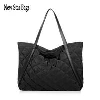 2015 New Winter fashion plaid large Shoulder bag Fashion brand space cotton handbag.TS89A