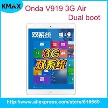 Onda V919 3G Air Dual OS ,9.7 inch Intel Quad-Core 64-bit Processor Tablet PC, 2G RAM 64GB ROM, 2048×1536 HD Screen, Dual Camera