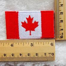 Grátis frete 10 pcs bandeira nacional canadá tecido bordado ferro Sew On remendo motivo Applique(China (Mainland))