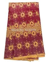 African Ankara Fabrics Real Wax Purplish Red 100% Cotton Party Garment rw14309114