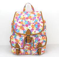 New Floral Women Printing Backpack School Rucksack Shoulder Bags H007 orange