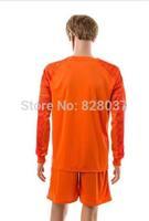 New Fashion Uniforms Kit Fabregas #1 Cech Oscar Diego Costa Hazard Orange Soccer Jersey 2014-2015 Long Sleeve Goalkeeper Jerseys