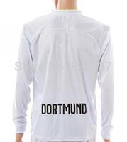 New Fashion Dortmund Kehl Reus Mkhitaryan Aubameyang Soccer Jersey 14/15 Gundogan white Long Sleeve Goalkeeper Jerseys