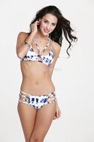 The most popular colors 2014 new hot female models sexy bikini swimwear women free shipping