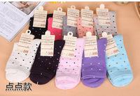 2015 New Style Women Lady Girl Socks Cotton Little Dot Shape Socks 8 Colors