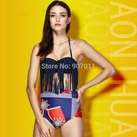 2015 Women's new retro style tassel waist bikini swimsuit split triangular steel prop gather swimwear free shipping