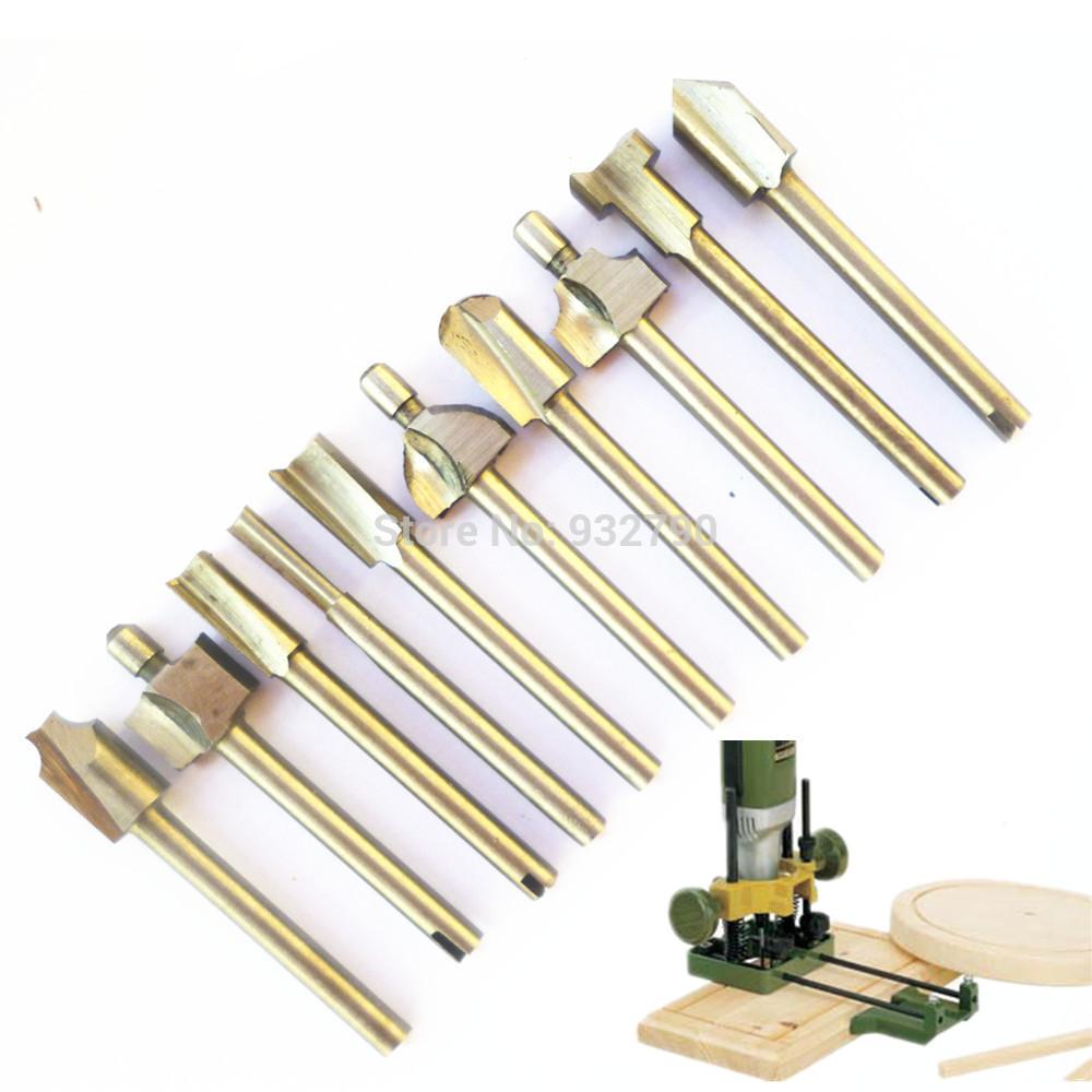 Mini HSS Router Bits Fits Dremel Foredom Rotary Tool Set Woodworking ...