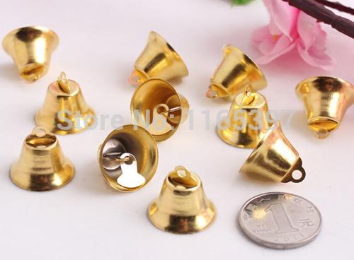 20mm 24pcs iron church bell Christmas decoration bells polish gold silver festive supplies Christmas cracker DIY crafts(China (Mainland))