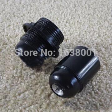 Black Naked and All Teeth High Temperature E27 Lamp Holder Self-locking Screw Bakelite Lampholder DIY Lighting Accessories(China (Mainland))