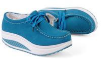 platform shoes genuine leather Women shoes Warm velvet shoes shook Casual shoes new fashion 2015