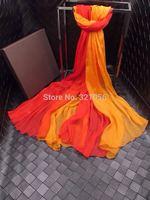 Georgette scarf Print Pure Silk Scarf, Women Ladies long Scarves Shawl f Autumn Winter,Free Ship!