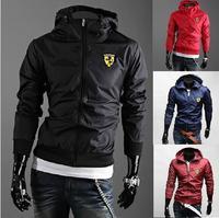 2015 Spring Men's fashion brand slim jackets Men casual hooded Cardigan zipper coat/Men hoodies/Male high quality sweatshirts