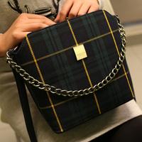 2015 desigual mango women handbag casual Grid canvas shell crossbody shoulder women bag messenger bags bolsas femininas bolsa