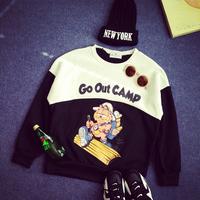 Free Shipping 2015 Women Hoody Spring Autumn Long Sleeve Casual Sweatshirt Women Cat printed Hoodies Moletom Feminine
