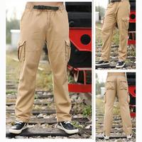 Mens New Tactical Pants Combat Camo Mens Work Pants Cargo Military Casual Long jogger pants Outdoor drop crotch pants Overalls