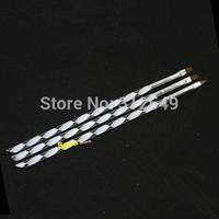 3 size Pro 2-Ways Sable Acrylic UV Gel Acrylic Brush Pen Cuticle Pusher Nail Art Drawing Brushes DIY Nails Tools #NAO27