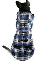 BIG SIZE Fashion Scottish Plaid Large Dog Clothes Pet Thick Warm Jacket Horn Button Coat For Big Dog Clothing 2XL 3XL 4XL 5XL