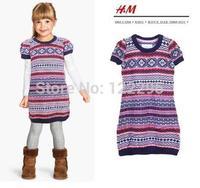 New sweater / girls angora blend sweater knit dress spring flower machine Dongkuan large sweater girls