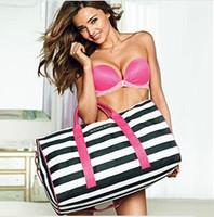 New 2014 Fashion Canvas Fringe Women Luggage Travel Bags Large Capacity Designer Brand Travel Duffel Bags Summer Pink Beach Bag