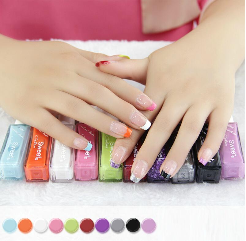 10 piece/lot 10ml French nail art liner brand nail polish Fashion Nail Beauty Tools Manicure Pedicure Nail Lacquer Free Shipping(China (Mainland))