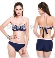 2015 new three-piece steel prop gather bikini swimsuits sexy split swimsuit free shipping