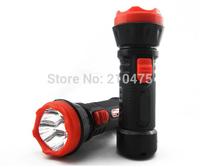 free shipping 5pcs cheap emergency led torch lamp  4xHigh Power LED Portable Rechargeable Flashlight Plastic Body