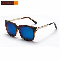 fashion square vintage women sunglasses polarized coating men sunglasses oculos de sol  WLJ4985