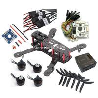 Free shipping fashion QAV250 DIY Quadcopter Kit & Emax MT1806 Brushless Motor & Simonk 12A ESC & CC3D quadrocopter helikopter