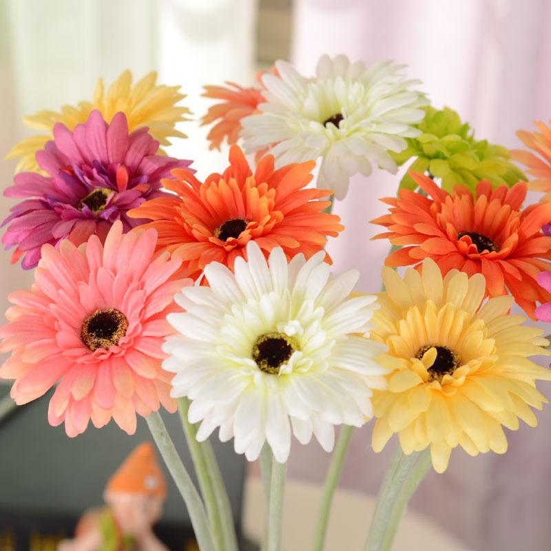 10pcs/lot Hot Home Wedding decoration Artificial Silk Flowers artificial African chrysanthemum(China (Mainland))
