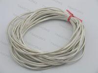 FREE SHIPPING 20Yds/2Pcs 3.0x2.0mm Metallic White Flat Real Leather Jewelry Cord, each piece 10 yard